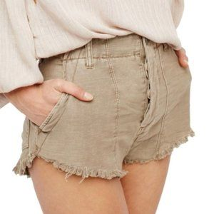 Free People | Gray Raw Edge High Waisted Shorts 2